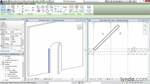 Creating door molding sweeps: Revit: Family Curves and Formulas