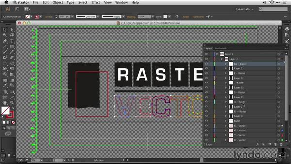 Creating a layered file for animation: Motion Graphics for Video Editors: Creating Animated Logos