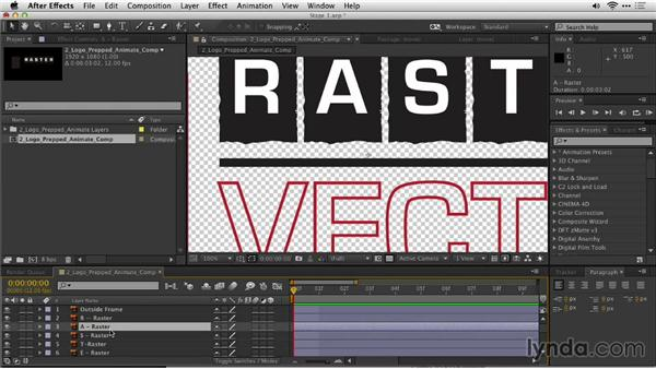Import a logo with layers into After Effects: Motion Graphics for Video Editors: Creating Animated Logos