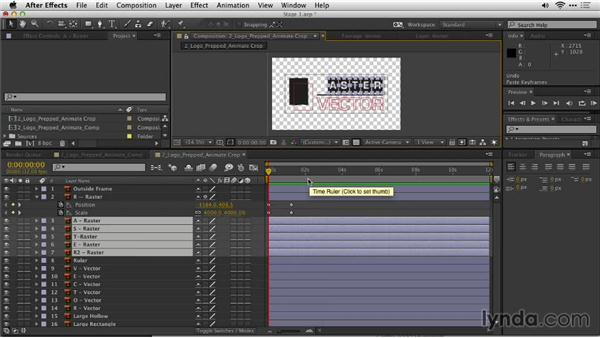 Animate layers in After Effects: Motion Graphics for Video Editors: Creating Animated Logos