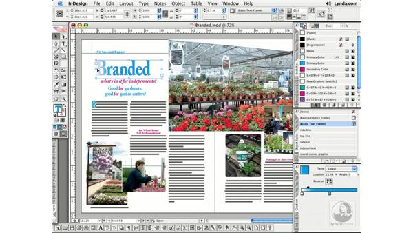 Tints and Gradients: InDesign CS2 Essential Training