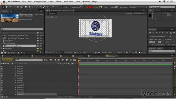 Using an environment layer for reflections: Motion Graphics for Video Editors: Creating Animated Logos