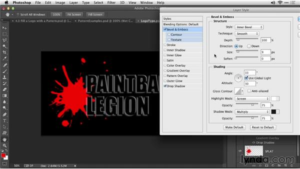 Fill a logo with a pattern: Motion Graphics for Video Editors: Creating Animated Logos