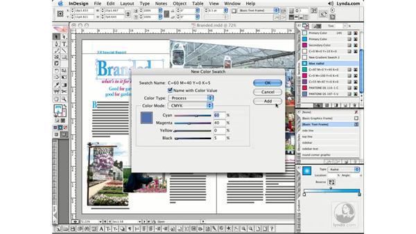 Accessing Color Libraries: InDesign CS2 Essential Training