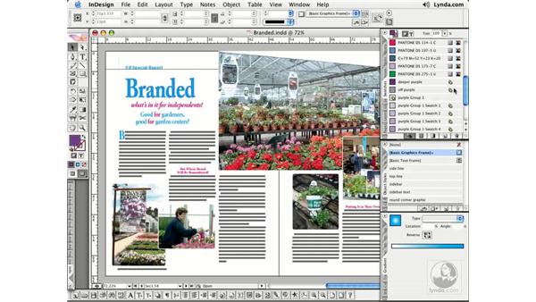 Converting Spot to Process: InDesign CS2 Essential Training