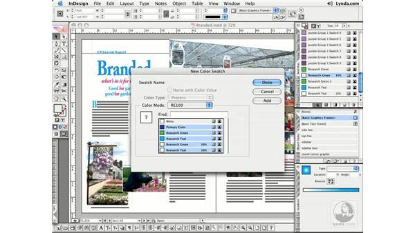 Importing Colors: InDesign CS2 Essential Training