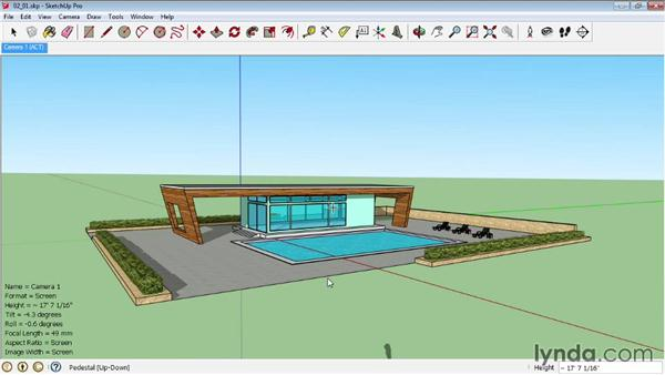 Creating advanced cameras: SketchUp Pro: Tools and Techniques