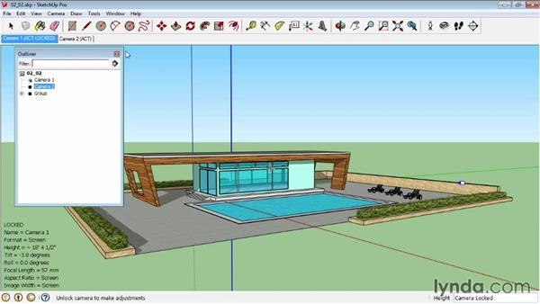 Manipulating cameras: SketchUp Pro: Tools and Techniques