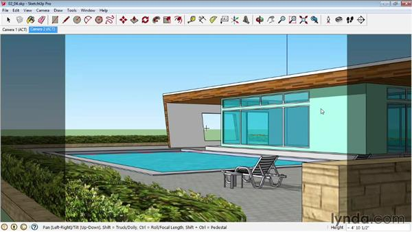 Working with standard camera types: SketchUp Pro: Tools and Techniques