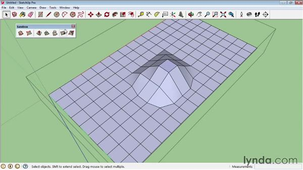 Creating terrains from scratch: SketchUp Pro: Tools and Techniques