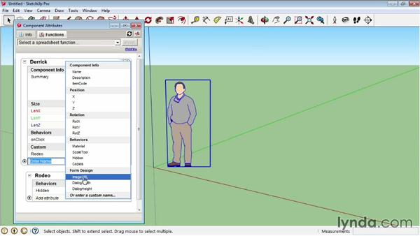 Using the Component Attributes window: SketchUp Pro: Tools and Techniques