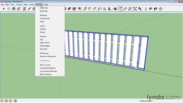 Creating a dynamic picket fence: Introduction: SketchUp Pro: Tools and Techniques