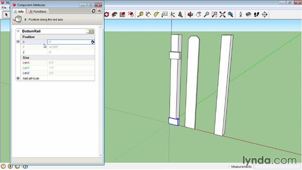 Creating a dynamic picket fence: Assembling the components: SketchUp Pro: Tools and Techniques