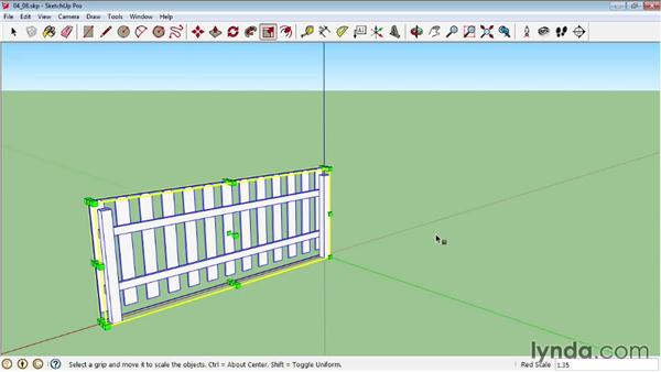 Creating a dynamic picket fence: Making fence posts multiply: SketchUp Pro: Tools and Techniques