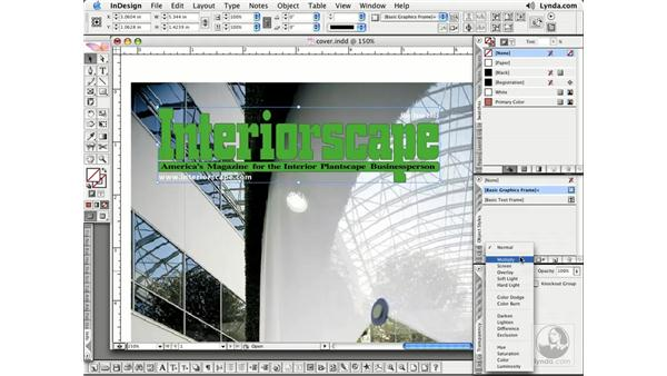 Blending Modes: InDesign CS2 Essential Training