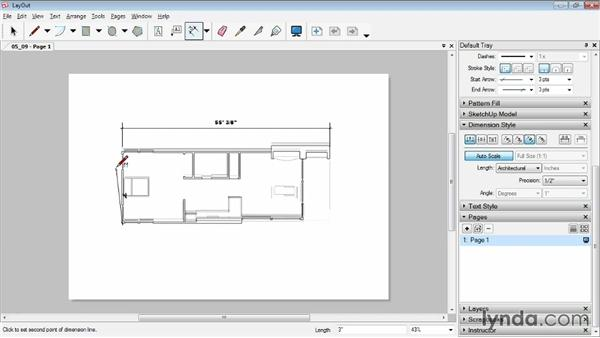 Working with dimensions: SketchUp Pro: Tools and Techniques