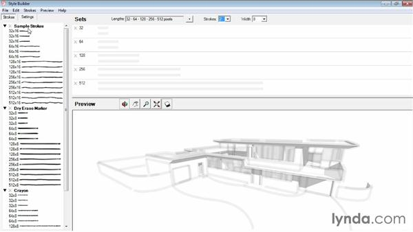 Working with strokes: SketchUp Pro: Tools and Techniques