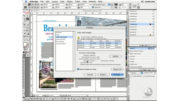 Preflight and Package: InDesign CS2 Essential Training