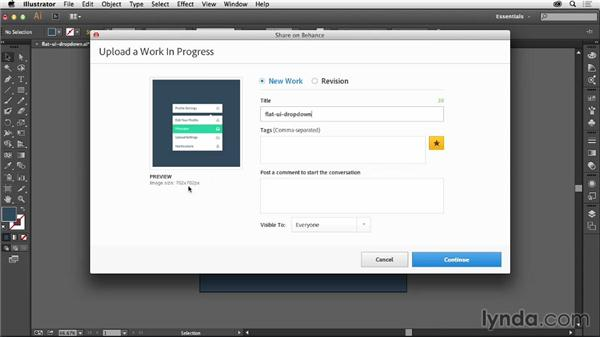 Uploading WIPs from Adobe CC applications: Up and Running with Behance
