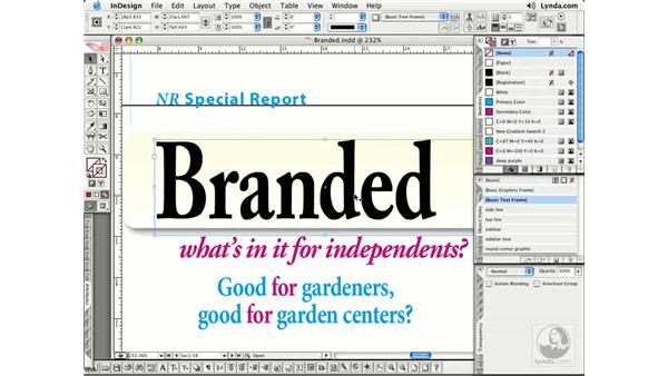 Overprinting: InDesign CS2 Essential Training