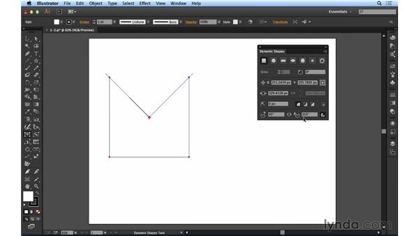 Working with dynamic shapes: Up and Running with Astute Graphics for Illustrator