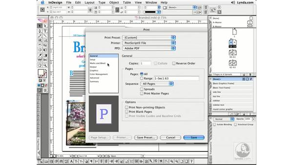 Creating a PostScript File: InDesign CS2 Essential Training