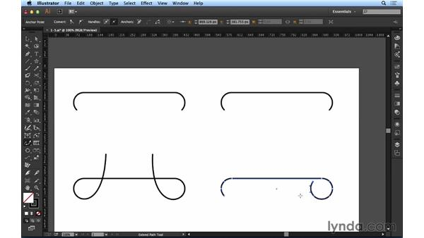 Using the Extend Path tool: Up and Running with Astute Graphics for Illustrator
