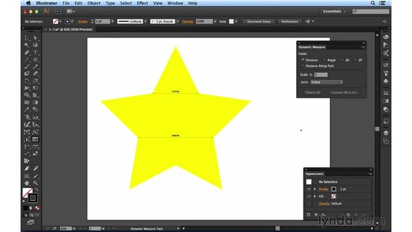 Using the Dynamic Measure tool: Up and Running with Astute Graphics for Illustrator