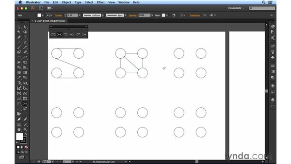 Drawing tangents and perpendiculars: Up and Running with Astute Graphics for Illustrator