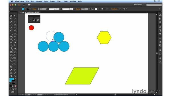 Using the Snap to Collisions tool: Up and Running with Astute Graphics for Illustrator