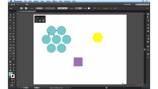 Using the collision spacing: Up and Running with Astute Graphics for Illustrator