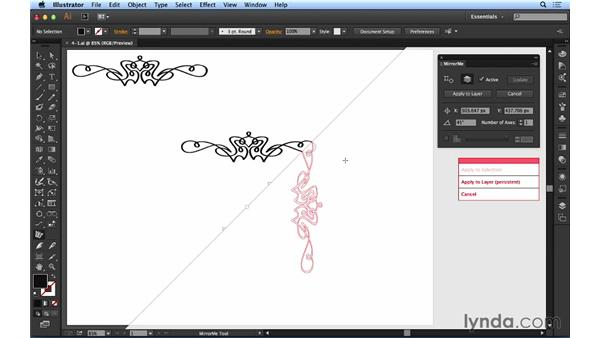 Mirroring artwork: Up and Running with Astute Graphics for Illustrator