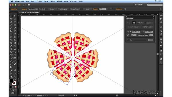 Mirroring text and images: Up and Running with Astute Graphics for Illustrator