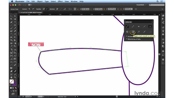 Editing path segments with InkScribe: Up and Running with Astute Graphics for Illustrator