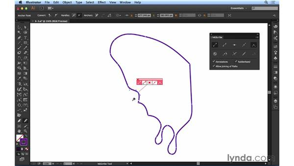 Adding, removing, and changing points with InkScribe: Up and Running with Astute Graphics for Illustrator