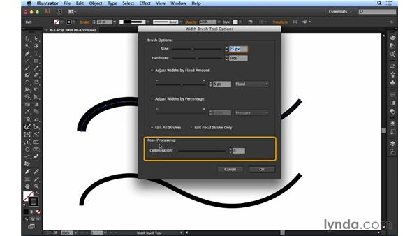 Using the Width Brush tool: Up and Running with Astute Graphics for Illustrator