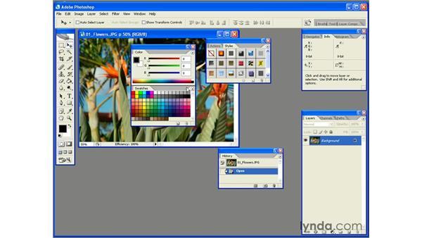 Palette Management: Photoshop CS2 Essential Training