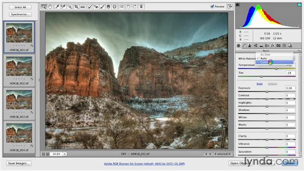 Batch renaming the photos: Shooting a High-Dynamic Range (HDR) Time-Lapse Video