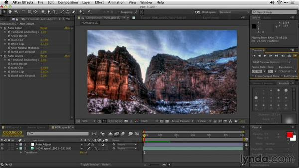 Color grading in After Effects: Shooting a High-Dynamic Range (HDR) Time-Lapse Video