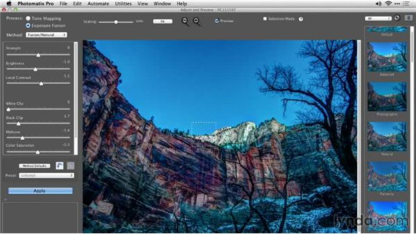 Batch processing the HDR time lapse twice: Shooting a High-Dynamic Range (HDR) Time-Lapse Video