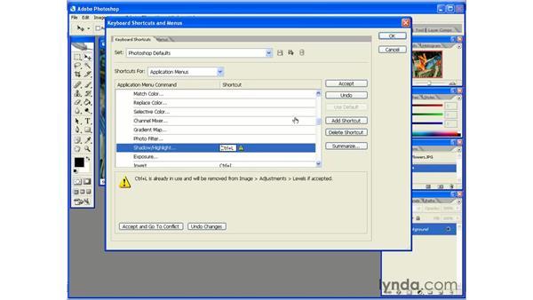 Customizing the Keyboard Shortcuts: Photoshop CS2 Essential Training