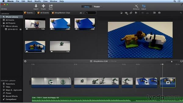 Assembling shots in iMovie: Getting Started with Stop Motion Animation
