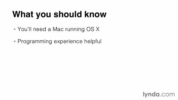 What you should know before starting this course: Up and Running with AppleScript