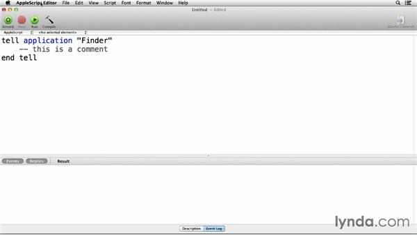 Introducing AppleScript Editor: Up and Running with AppleScript