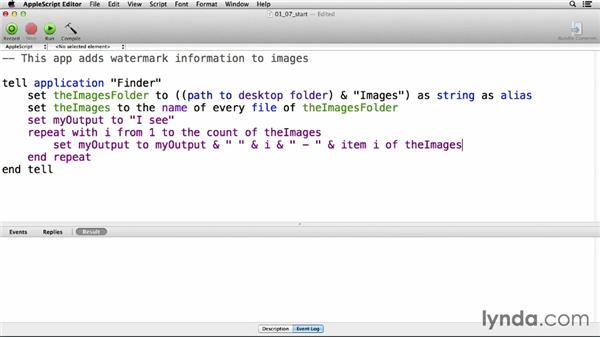 "Using ""repeat"" to create loops: Up and Running with AppleScript"