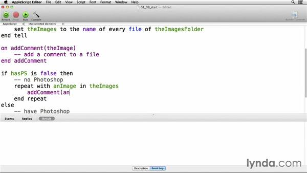 Building functions: Up and Running with AppleScript