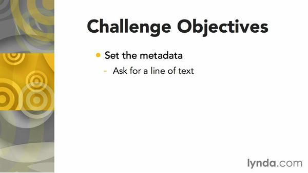 Challenge: Set some file metadata: Up and Running with AppleScript