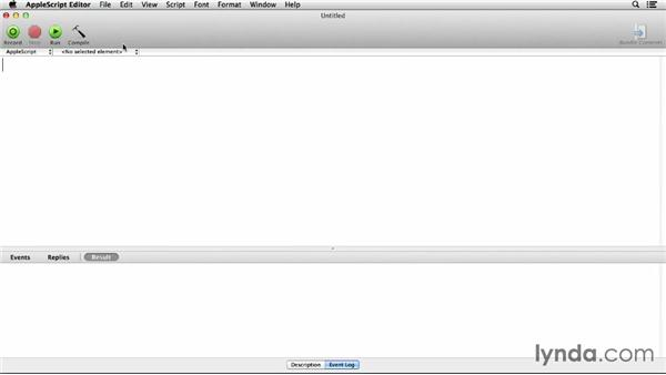 Using AppleScript with other programs: Up and Running with AppleScript