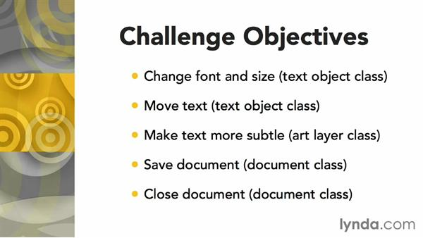 Challenge: Add Photoshop interaction: Up and Running with AppleScript