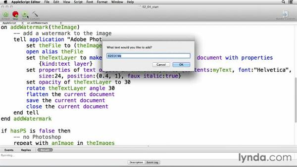 Solution: Add Photoshop interaction: Up and Running with AppleScript